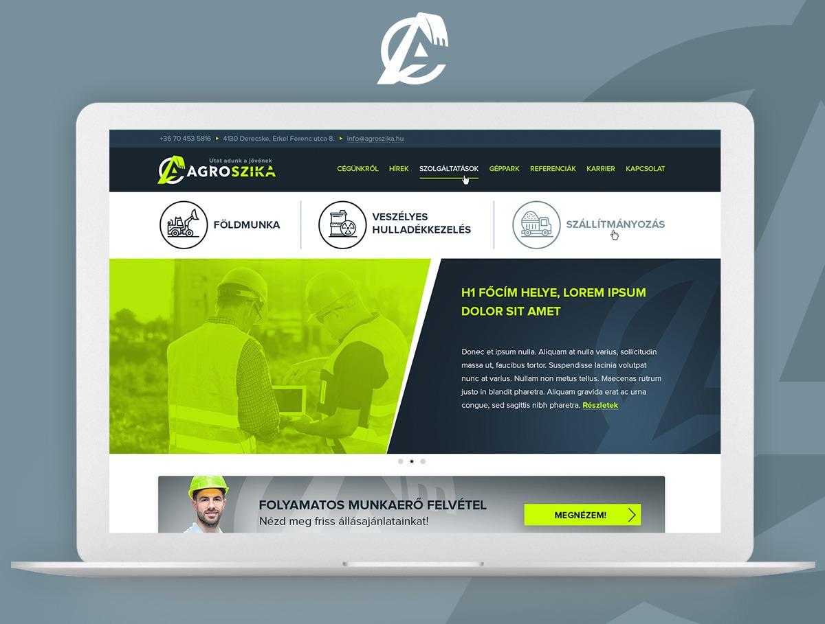 Agro Szika webdesign