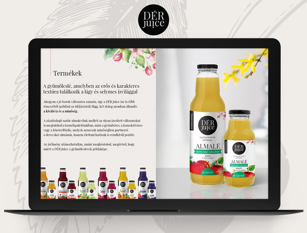 DÉR Juice webdesign