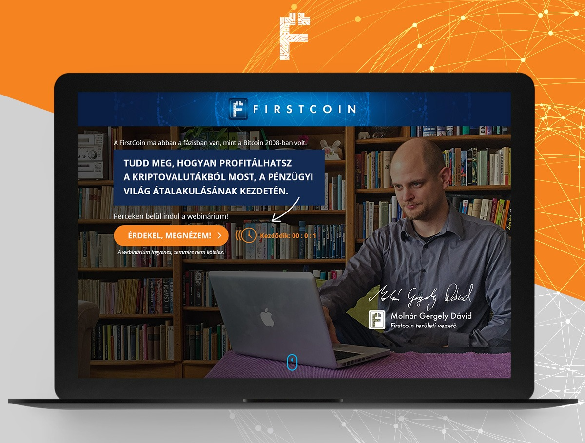 FirstCoin webdesign
