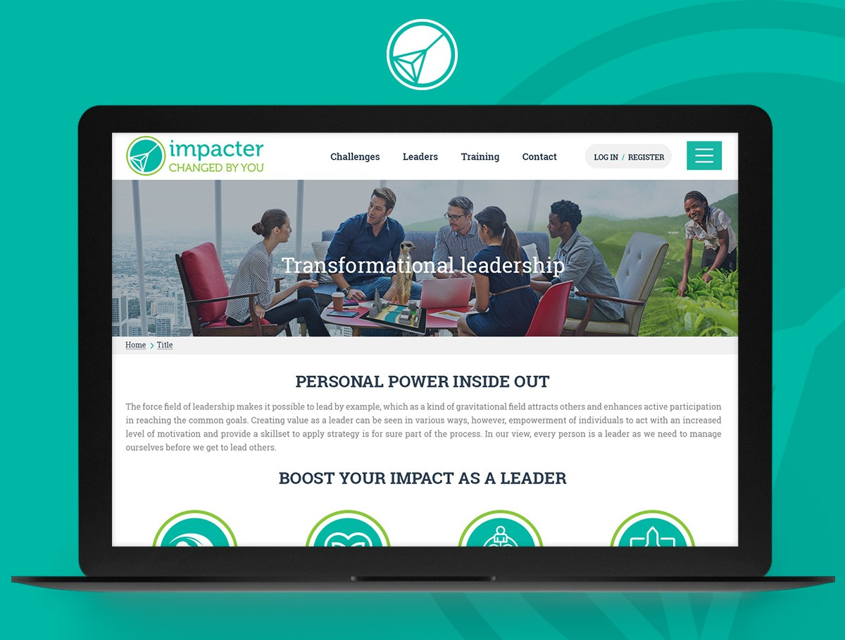 The Impacter webdesign