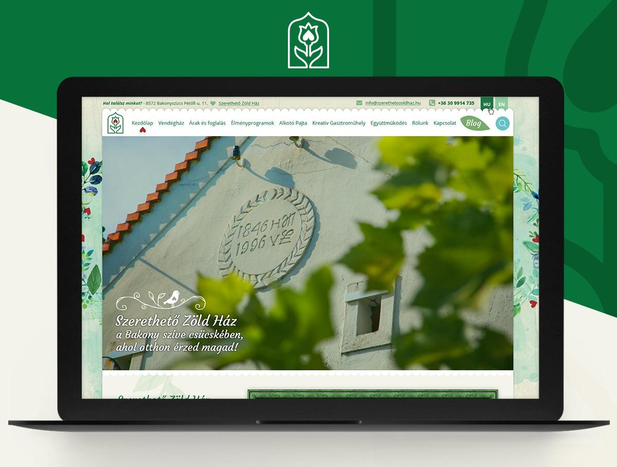 Szerethető Zöldház webdesign
