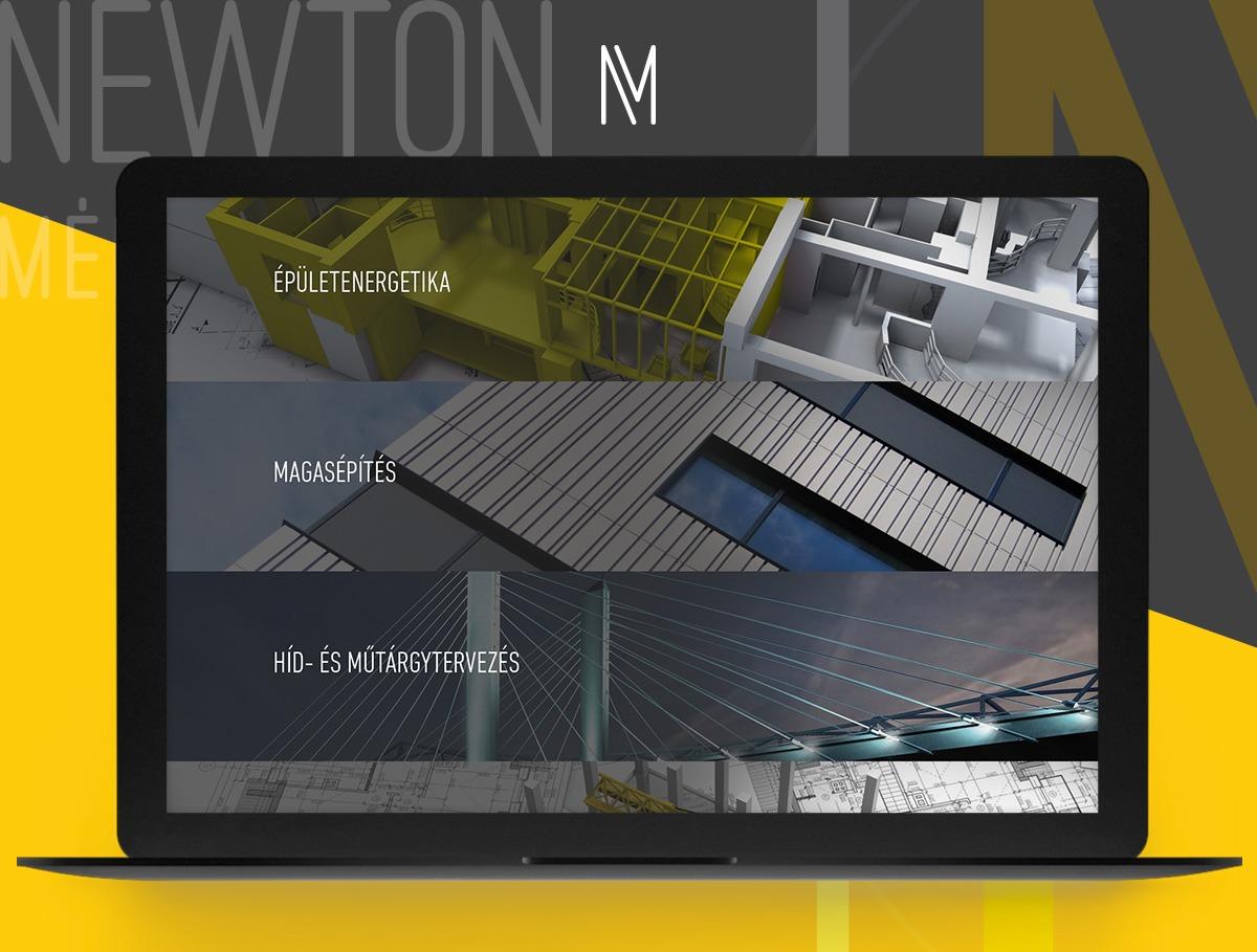 Newton mérnök webdesign
