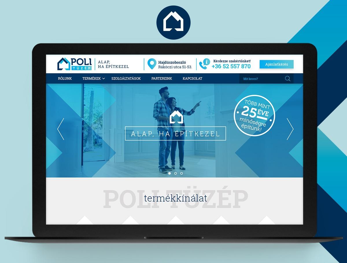Poli Tüzép webdesign