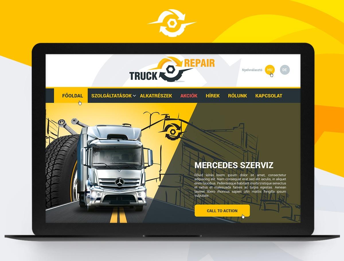 Truck Repair webdesign